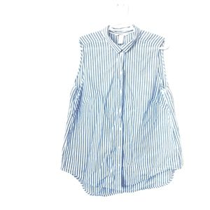 H&M Blue and White Sleevless Button Down